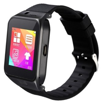 Harga HUG GV09 Cellphone Smart Watch (Black)