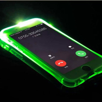Harga 2016 Best Quality TTLIFE Colorful Flashing phone calls case iPhone6 /6S inch 4.7 emitting (green)