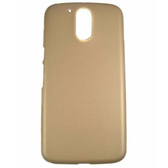 Harga Rubberized Hard Case for Motorola Moto G4 Plus (Gold)