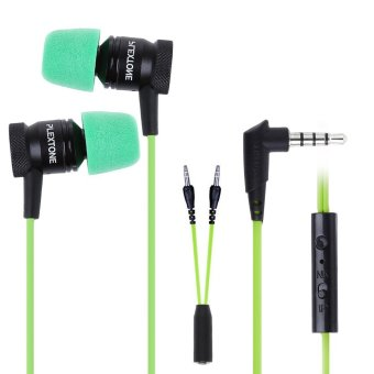 PLEXTONE G10 In-Ear Professional Gaming Headset 3.5mm Jack Noise Cancelling Stereo Bass (Green/ Black) Price Philippines