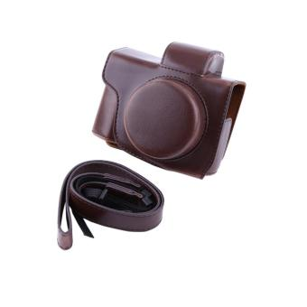 PU Leather Camera Case Bag For Olympus EM10 II Short Focal​ Camera(coffee) - intl Price Philippines