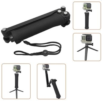 Harga HUG Universal Waterproof 3-Way Monopod For GoPro Hero 4/2/3/3+/SJCAM SJ4000/Xiaoyi Cameras