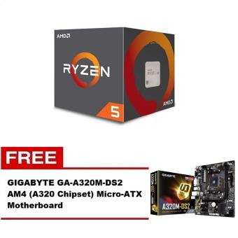 AMD Ryzen 5 1600 3.2 GHz Six-Core AM4 Processor with FREE GIGABYTE GA-A320M-DS2 AM4 Micro-ATX Motherboard Price Philippines