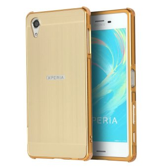 Harga RUILEAN Luxury Metal Aluminum Bumper for Sony Xperia X Performance (Gold)