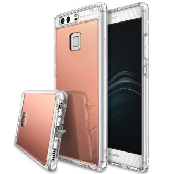 Harga Ringke Mirror PU Cover Case for Huawei P9 (Rose Gold)