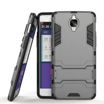 Harga RUILEAN Hybrid Armor Dual-Layer Shockproof Stand Case Cover for OnePlus 3 Grey