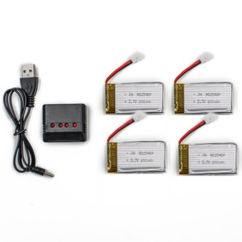 Harga Syma 650mAh Li-Po Battery with Charger for Syma X5C X5SC and X5SW Drone
