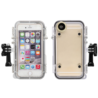 Waterproof Phone Case for iPhone 6 plus (Clear) - intl Price Philippines
