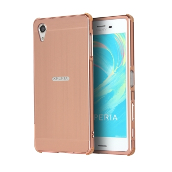 Moonmini Aluminum Metal Frame Case Mirror Cover for Sony Xperia X Performance (Rose Gold) Price Philippines