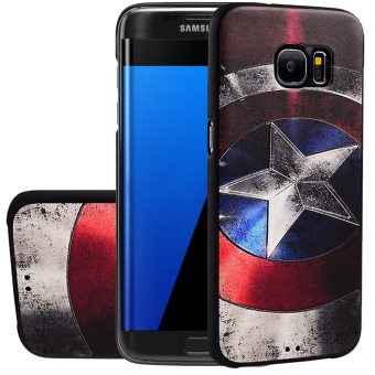 Harga RUILEAN Soft TPU Case For Samsung Galaxy S7 Edge Captain 3D Embossed Painting Series Protective Cover