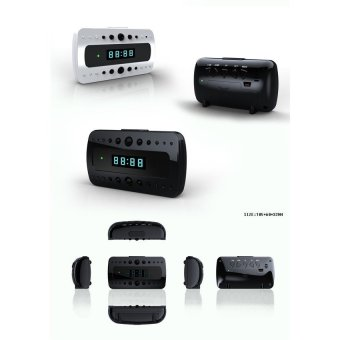 HD Mini Clock Hidden Spy Camera with Night Vision - intl Price Philippines