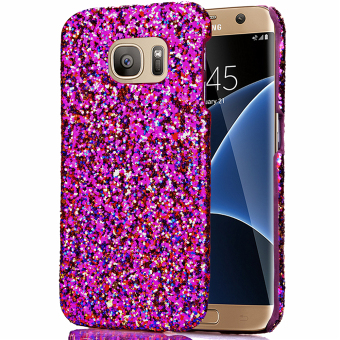 Moonmini Bling Shiny PC Back Case Cover for Samsung Galaxy S7 Edge (Purple) Price Philippines