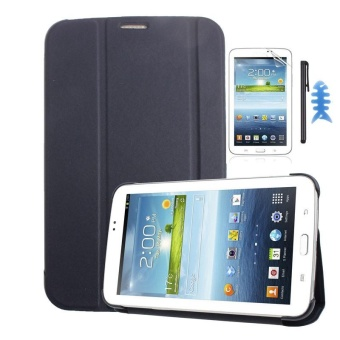 Leather Case Cover For Samsung Galaxy Tab 3 7.0 T210 T211+Film +Stylus Sapphire(Dark blue) - intl Price Philippines