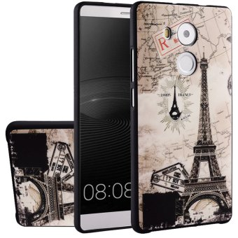 Harga RUILEAN Soft TPU Case For Huawei Mate 8 Eiffel Tower 3D Embossed Painting Series Protective Cover