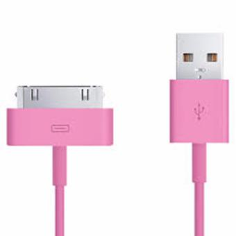 Harga 30-Pin to USB Cable (Light Pink)