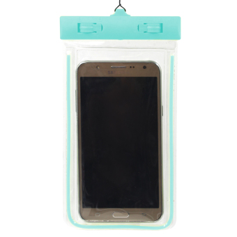 Great Deals Glow in the Dark Water Proof Case for Mobile Phone (Baby Blue) Price Philippines