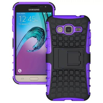 Moonmini TPU + PC Case for Samsung Galaxy J3 (2016) (Purple) - Intl Price Philippines