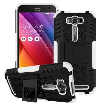 Moonmini TPU + PC Case whith Kickstand Cover for ASUS ZenFone 2 Laser ZE550KL 5.5 inch (White) Price Philippines