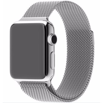 New Milanese Loop Watch Strap For Apple Watch Band 38mm Silver link bracelet Stainless Steel Woven iwatch watchband - intl Price Philippines