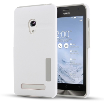 Moonmini Hybrid Combo Shockproof Back Case Cover for Asus Zenfone 5 (White) Price Philippines