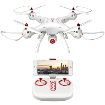 Harga Syma X8SW WIFI FPV With 720P HD Camera 2.4G 4CH 6 Quadcopter (White)