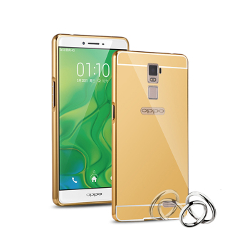 Harga RUILEAN Metal Aluminum Detachable + Mirror Hard Back Case for OPPO R7 Plus (Gold)