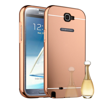Harga RUILEAN Luxury Metal Aluminum Bumper Hard Back Case for Samsung Galaxy Note 2 N7100 (Pink)