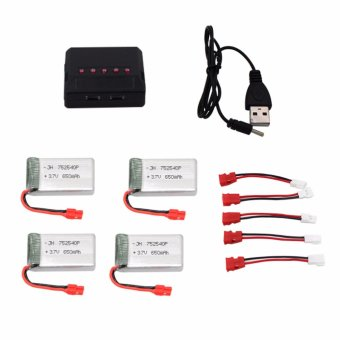 Harga Syma 650mAh Li-Po Battery with Charger for Syma X5HC and X5HW Drone