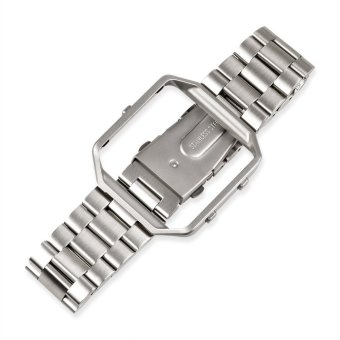 Stainless Steel Replacement Strap + Metal Frame Housing with Removal Tool for Fitbit Blaze(Silver) Price Philippines