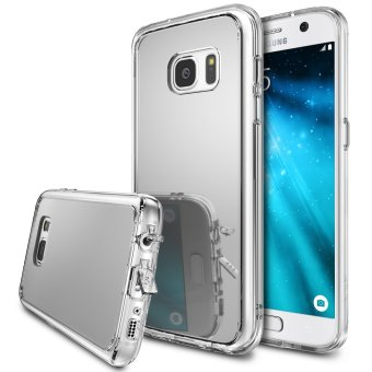 Harga Ringke Polyurethane Mirror Case for Samsung Galaxy S7 Edge (Silver)