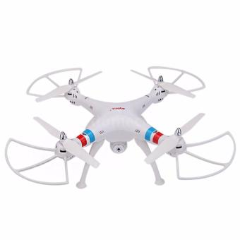 Harga Syma X8C Venture New Package 4 Channel 2.4G RC Quadcopter with 2.0 HD Camera 6 Axis 3D Flip Fly UFO (White)