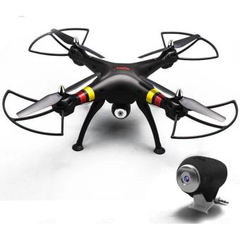 Harga Syma X8C Venture 4 Channel 2.4GHz R/C Quadcopter Drone With 2MP Camera (Black)