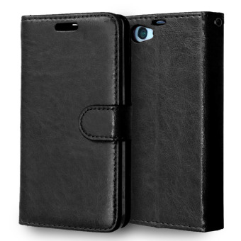 Moonmini Leather Flip Stand Cover for Sony Xperia Z1 Compact / Z1 Mini (Black) Price Philippines