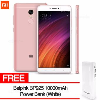Harga Xiaomi Redmi Note 4X 4GB RAM 64GB ROM (PINK) with FREE Belpink BP925 10000mAh Power Bank (White)