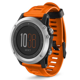Bluesky Silicone Strap Replacement Watch Band For Garmin Fenix 3, Orange - Intl Price Philippines