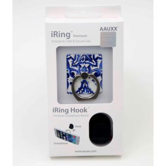iRing Reusable 3-in-1 Safety Grip/Kickstand/Car Cradle for Smart Devices (Blue Floral) Price Philippines