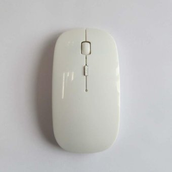 2.4Ghz Wireless Bluetooth Game Mouse Ultrathin 4 Buttons Mice for Apple Ipad/Iphone/Mac White - intl Price Philippines