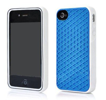 Leegoal Blue with White Side Silicone Rubber Sole Vans Waffle Case Cover for IPhone5/5S - intl Price Philippines