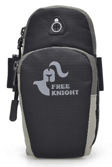 Free Knight Oxford Nylon Class A 6.2 inch Sports Running Jogging Gym Armband Holder Bag For Mobile Phones (Black) Price Philippines