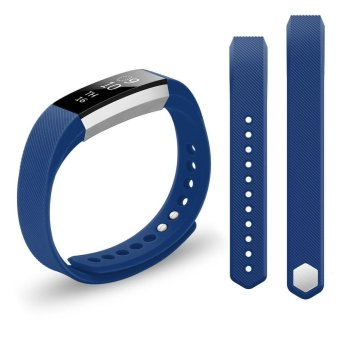 Harga Hanlesi Strap for Fitbit Alta and Alta HR , TPU Soft Silicone Adjustable Replacement Band for Fitbit Alta and Alta HR Smartwatch Heart Rate Fitness Wristband - intl