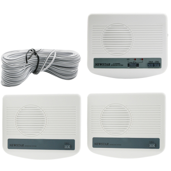 Harga Newstar 3 Way Wired Intercom One Main and Two Sub MIC-9723