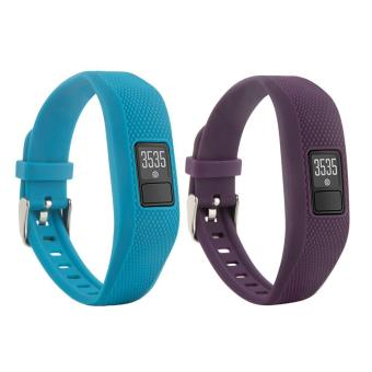 Harga 2 PCS Replacement Wristband Bands Strap With Metal Buckle For Garmin Vivofit 3 with Clasps Fitness Bands Suitable to All Sizes(Not for Garmin Vivofit/Garmin Vivofit 2,No Tracker) - intl