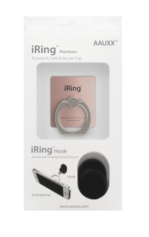 iRing Reusable 3-in-1 Safety Grip/Kickstand/Car Cradle for Smart Devices (Rose Gold) Price Philippines