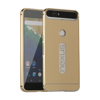 Moonmini Metal Frame Bumper Case for Huawei Nexus 6P (Golden) Price Philippines