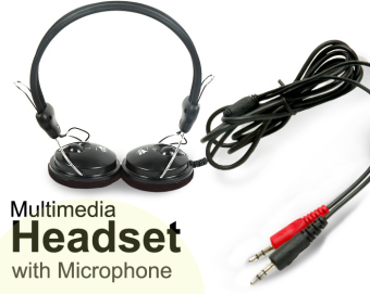 Harga Rise 105dB Multimedia Stereo Headset/Headphones with Microphone