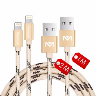 Mypro PowerLine Nylon Braided Lightning to USB Cable for iPhone, iPad and iPod - (1 Meter+2 Meters)Set of 2 Price Philippines