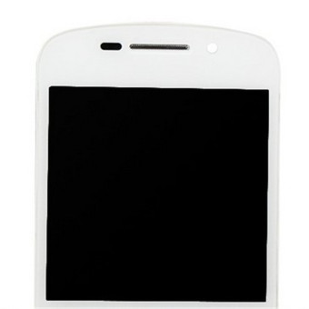 Harga lcd screen with frame Complete Screen lcd display touch screen replacement parts white for Blackberry Q10