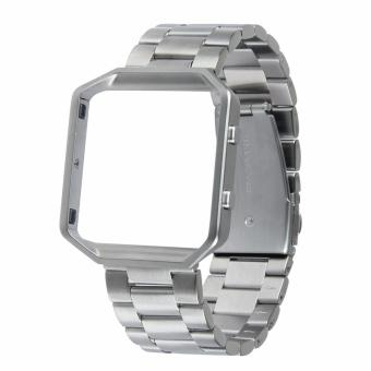 Fitbit Blaze Luxury HOCO Stainless Steel Watchband Bracelet Strap with Frame for Fitbit Blaze (Silver) Price Philippines