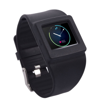 Silicone Wrist Strap Watchband Holder for Fitbit Blaze Smart Fitness Watch in Black Price Philippines