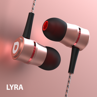 Harga Accutone Lyra 105dB Audio-Balanced Noise-Isolating In-Ear Headset with Mic (Rose Gold)